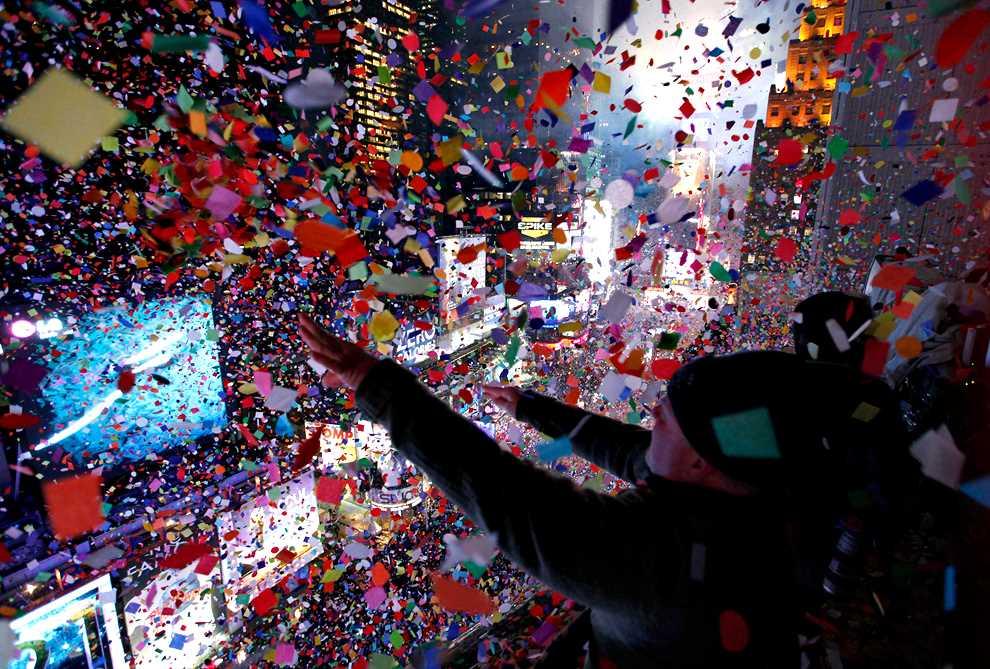 Confetti sur Time Square