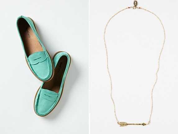 Chaussures et collier Anthropologie