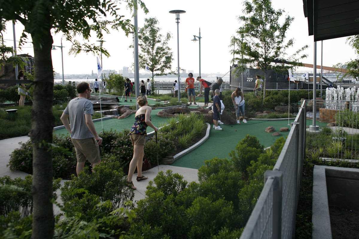 mini-golf au Hudson River Park