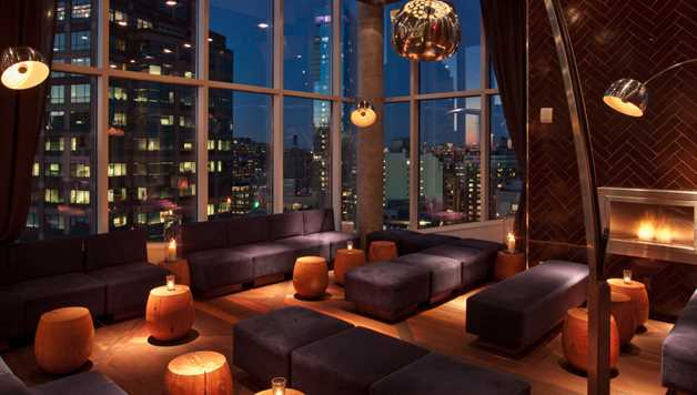 Rooftop new york hiver