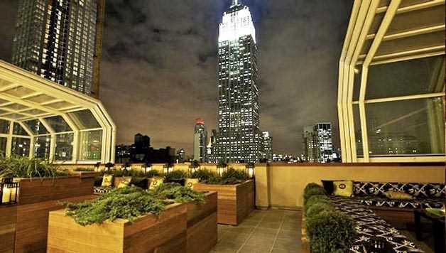 Rooftop pour l'hiver à new York