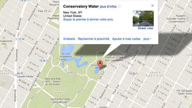 Central Park : Conservatory Water