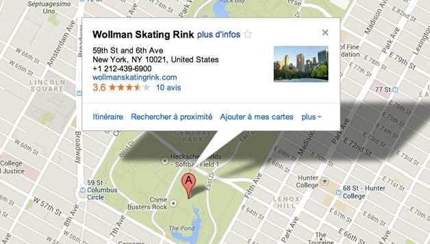 Visiter Central Park : piste de patinage