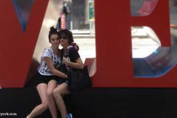 mère et fille a New York