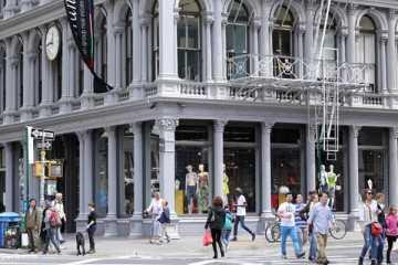 Shopping sur Broadway à New York