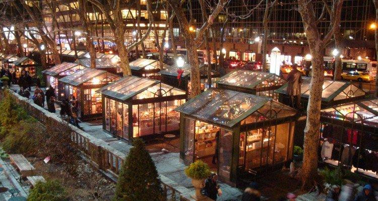 Visiter le marché de Noël de Bryant Park